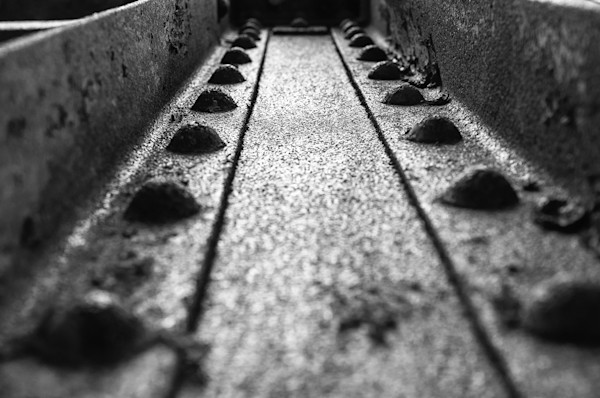 Rivets in Steel Girder Limited Edition Signed Abstract Photograph by Melissa Fague
