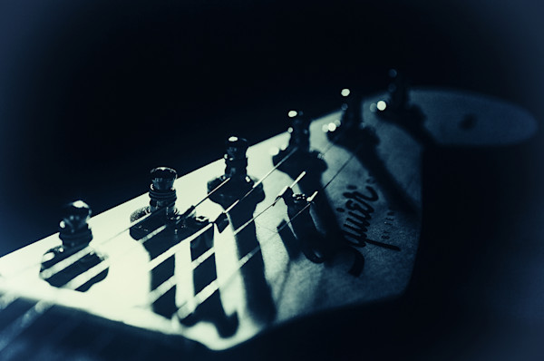 Squire Guitar Head Limited Edition Signed Abstract Photograph by Melissa Fague