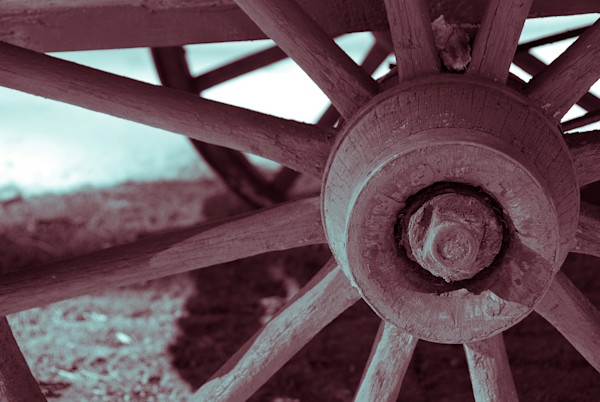 Wheels of Time Limited Edition Signed Abstract Photograph by Melissa Fague
