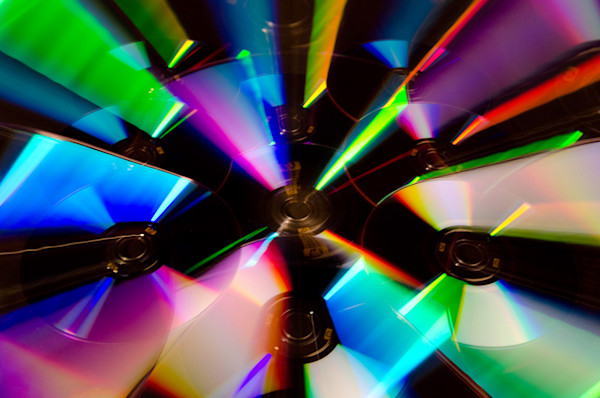 Zoomed CDs Limited Edition Signed Abstract Photograph by Melissa Fague