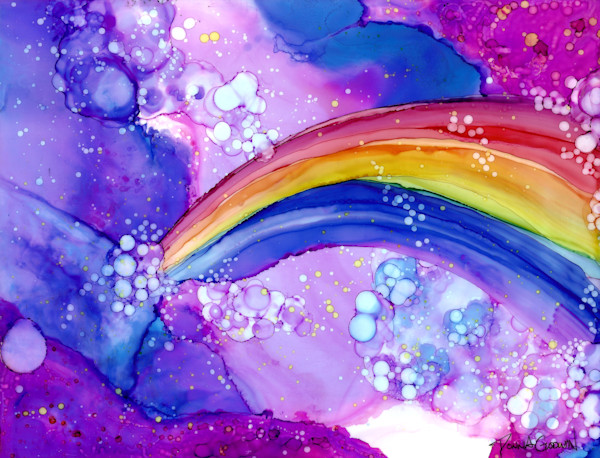 """Rainbow Explosion"" by Donna Godwin 