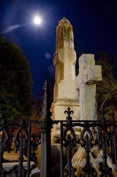 Old Grave at Night 3 Night Photo Wall Art by Nature photographer Melissa Fague