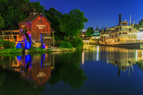 Disney World After Dark Photograph for Sale as Fine Art