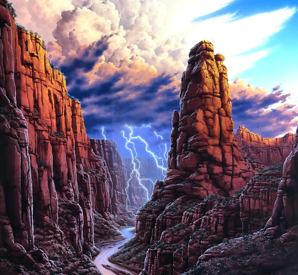 Canyon Thunderstorm rolls in