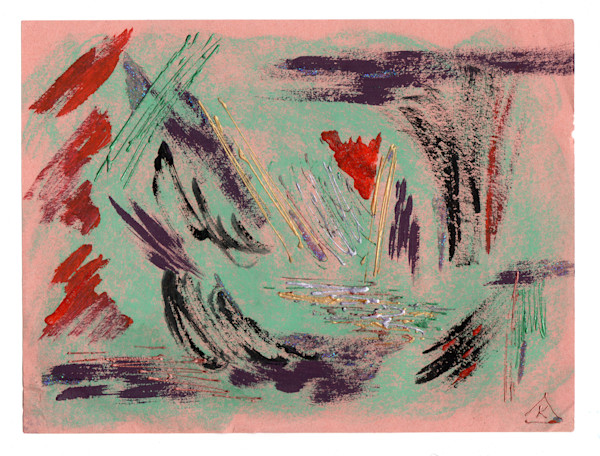BOLD BEAUTIFUL ABSTRACT IN TURQUOISE PINK