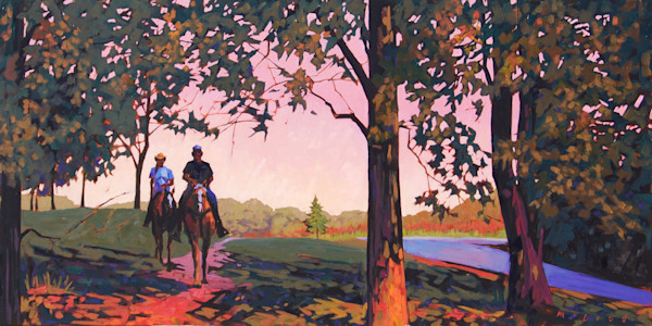Shop Matt McLeod Fine Art for art prints like, Riding The Trail from an original oil on canvas painting by Matt McLeod.