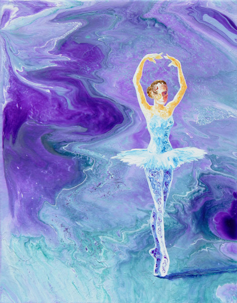 Abstract Ballerina Art, Transformation, Original Painting for Sale