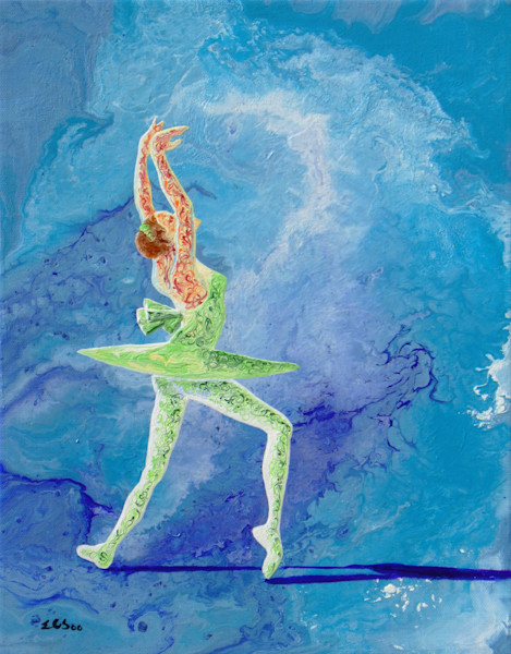 Abstract Ballerina Art, Fairy - Original Painting for Sale