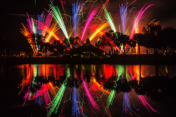 Fireworks at Epcot Photograph for Sale as Fine Art