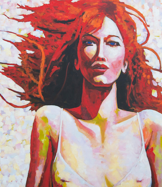Red, original oil on canvas painting, by Matt McLeod. Shop Matt McLeod Fine Art for original paintings.