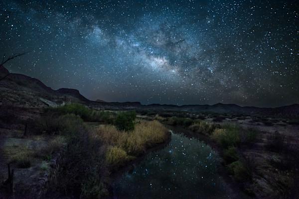 Milky Way over Rio Grande in Big Bend National Park