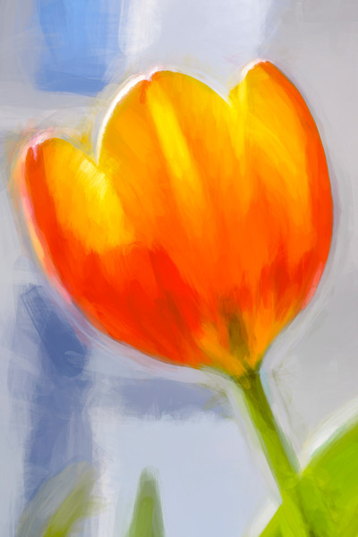 Color of Spring Macro Tulip Close Painting|Wall Decor fleblanc