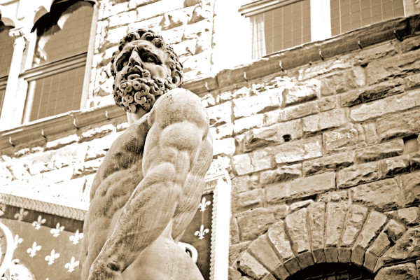 Shop for Piazza della Signoria (Sepia) Photographic Art | Decor for your space