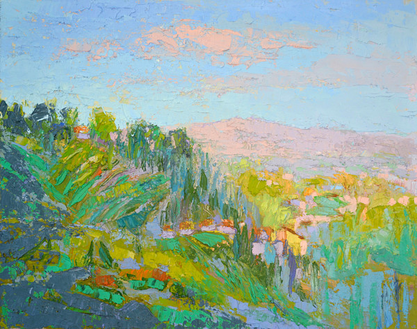 Florence Vista ~ Tuscan Landscape Original Oil Painting by Dorothy Fagan