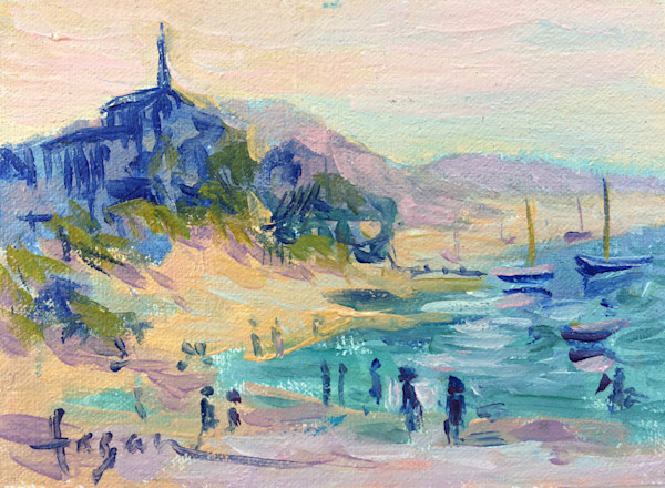 Pointe du Chevret Original Oil Painting