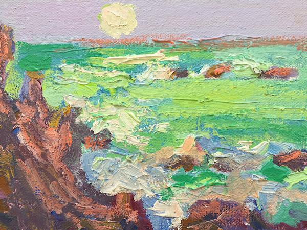 Moonrise Emerald Coast ~ Original Oil Painting by  Dorothy  Fagan