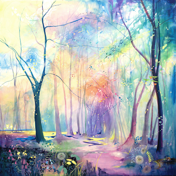 Fine art paintings of trees and parks
