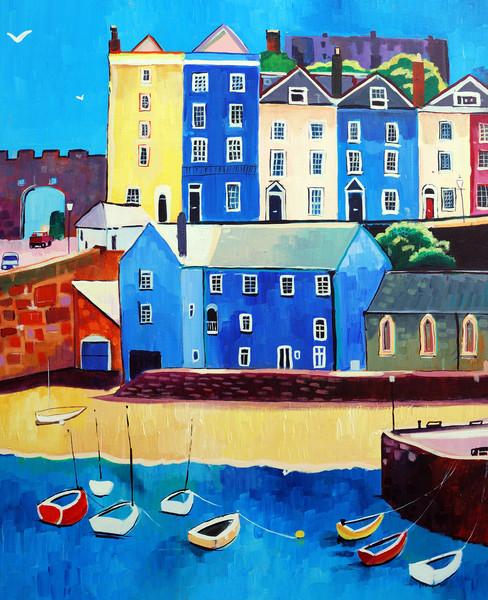 Tenby harbour Pembrokeshire prints