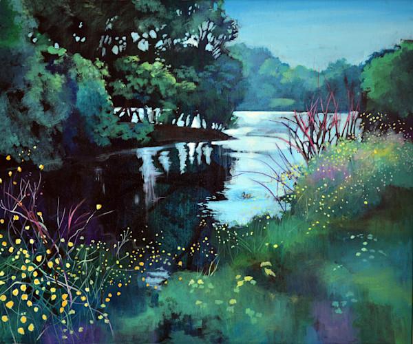 Print Old Castle Pond Llanelli