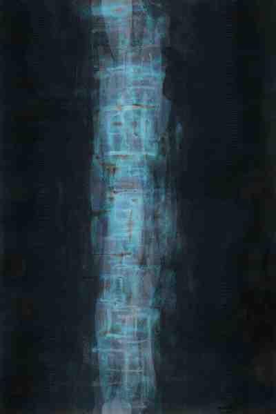 Vertical modern art painting
