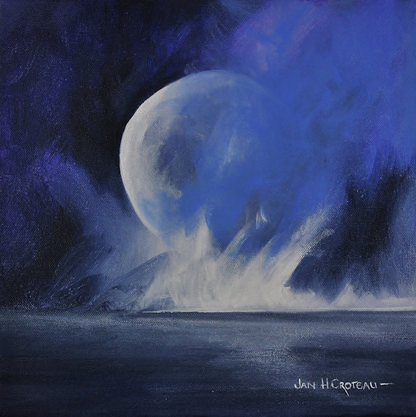 Stunning Moonscape paintings for sale | Jan H. Croteau Art