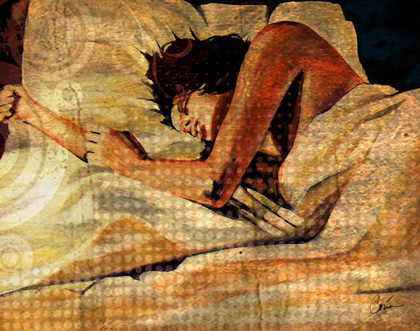 Figurative Image of a Lady sleeping