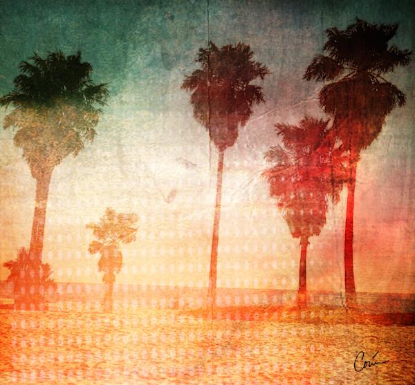 California pale beach in pop art
