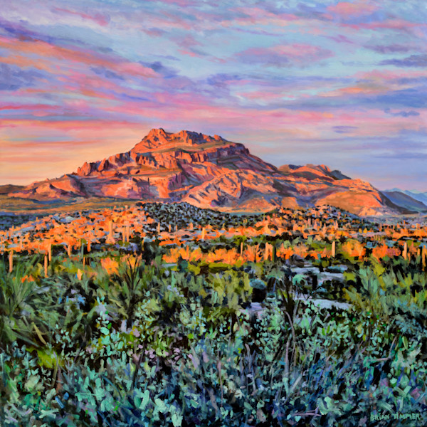 Red Mountain OIl Painting