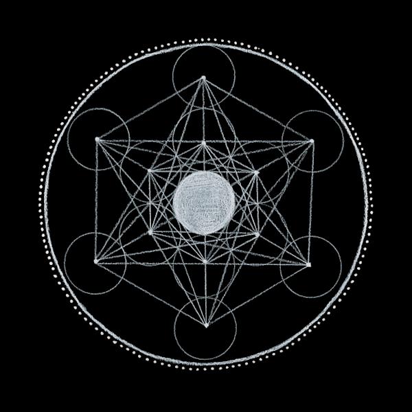 Light, sphere, crown mandala art by Laural Virtues Wauters.