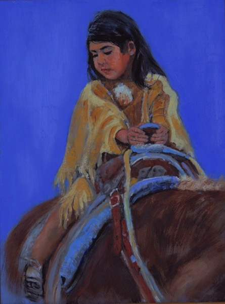Native American Child Painting by Linda Gulinson | A Long Way Down