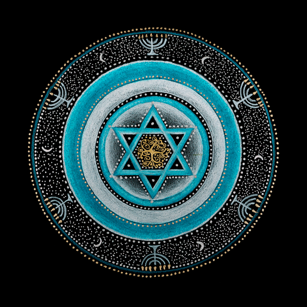 Judaism throat mandala art by Laural Virtues Wauters.