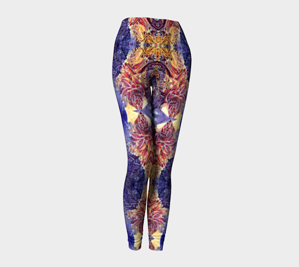 Purple Orbital Fine Art Leggings
