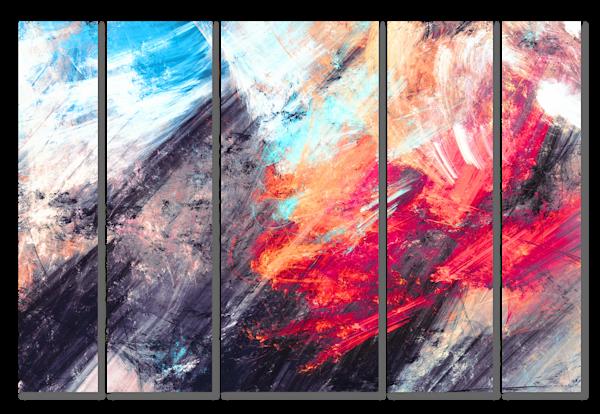 Volcanic Multi-Panel Art