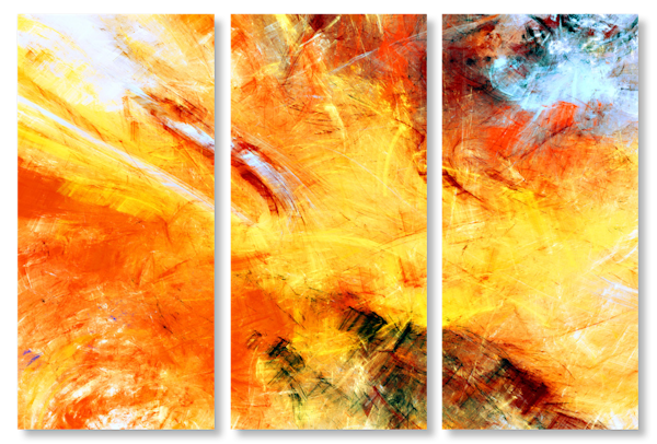 Flames Multi-Panel Art