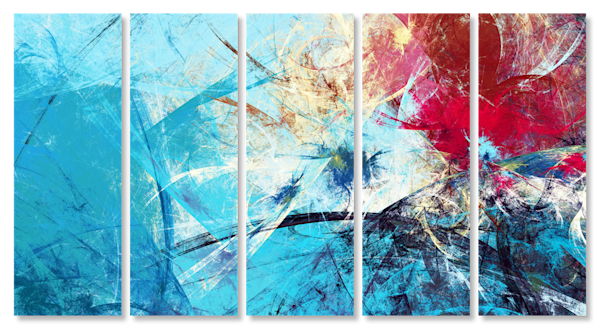 Winter Bloom Multi-Panel Art