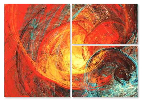 Red Swirl  Multi-Panel Art