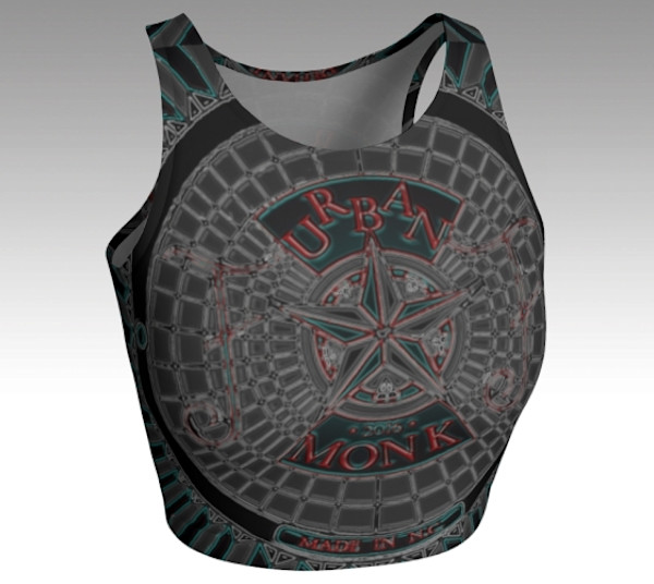 Fine Art Athletic Crop Top Metal Monk