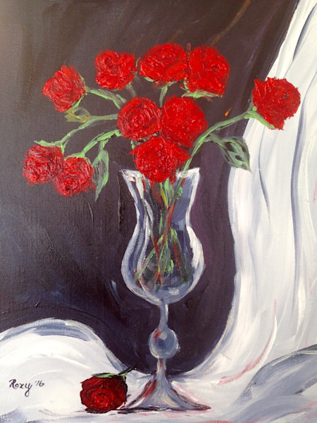 Red Roses in a Goblet