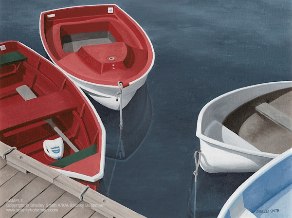 Lobster Boats, Dinghies, Marina | Limited Edition Fine Art Prints & Original Paintings