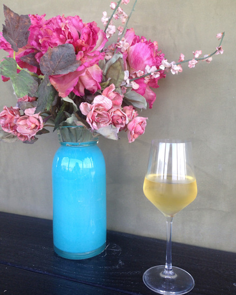 Chardonnay and Roses, pink roses, wine, flowers