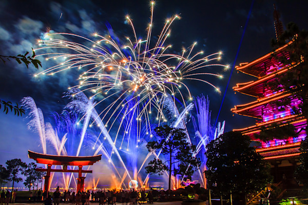 Epcot Illuminations 1 Photograph for Sale as Fine Art