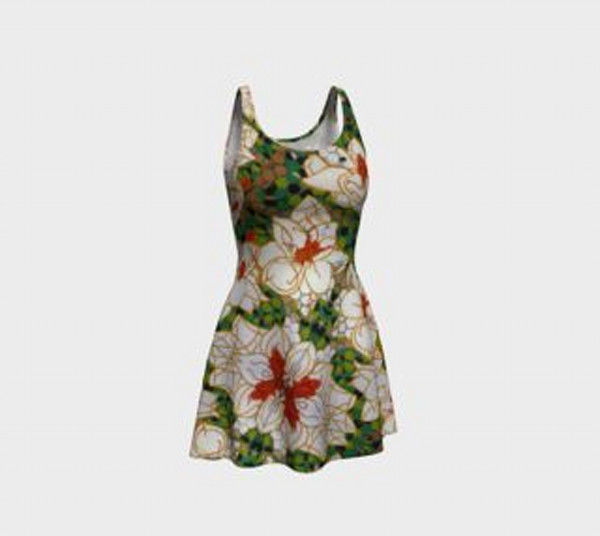 Fine Art Magnolia Dress design inspired by original artwork from The Urban Monk.