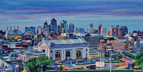 Kansas City Skyline Painting