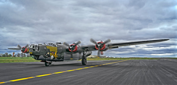 B-24 WW2 Air Liberator Witchcraft Warplane classic fleblanc