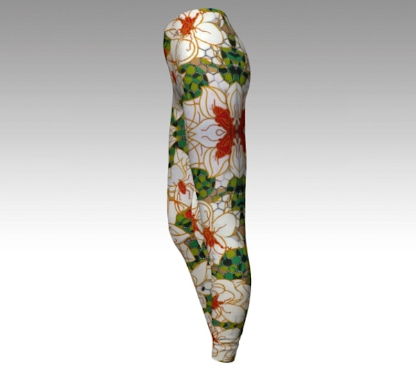 Savannah Magnolias Fine Art leggings