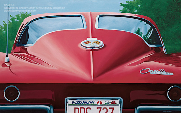 1963 Corvette | Split Window | Fine Art Print of Painting
