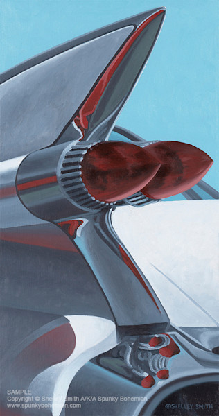 1959 Cadillac Tail Fin | Fine Art Prints | Paintings
