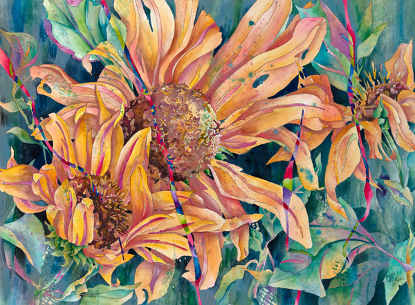 Purchase a fine art print of Billowing Bursts of Sunshine by Gayle Faulkner