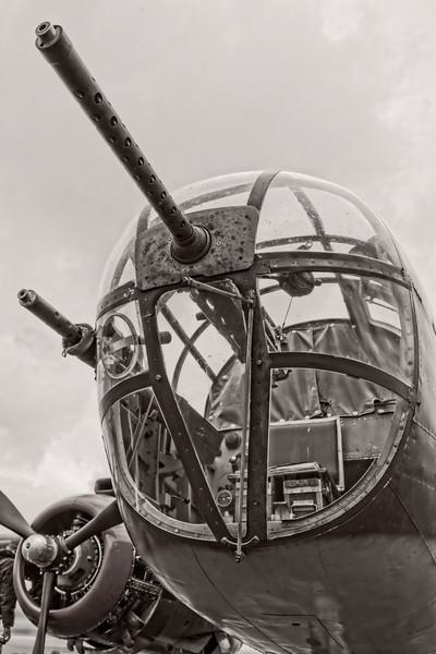 B-25 Mitchell WW2 Restored Tondelayo Monochrome fleblanc