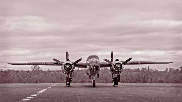 B-25 Mitchell WW2 Restored Tondelayo Sepia fleblanc